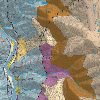 Portion of geologic map of the White Bird quadrangle, Idaho County